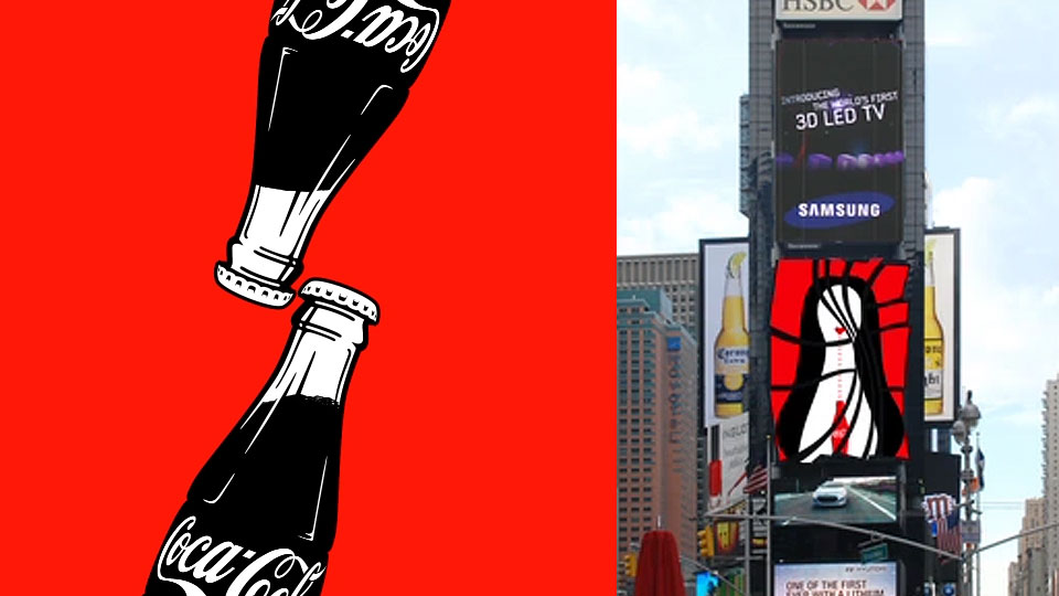 Times Square Coca-Cola 100 years - Deviant Ventures